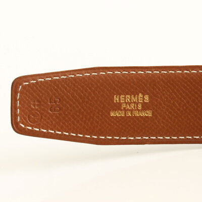 Hermes constance ceinture cuir noir marron h boucle or ton 65 cm