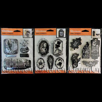 Mason Jars Halloween Crafts (Jolees Lot HALLOWEEN Cameos Mason Jars Chalkboard Words Skeletons 3 PACKS)