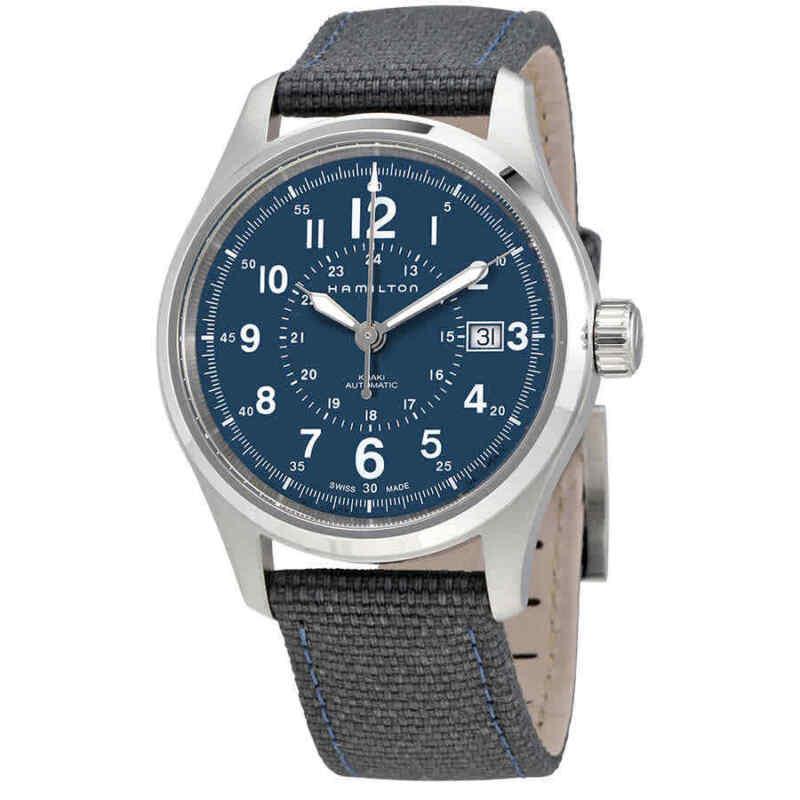 Hamilton-Khaki-Field-Automatic-Blue-Dial-Men-Nylon-Watch-H70305943