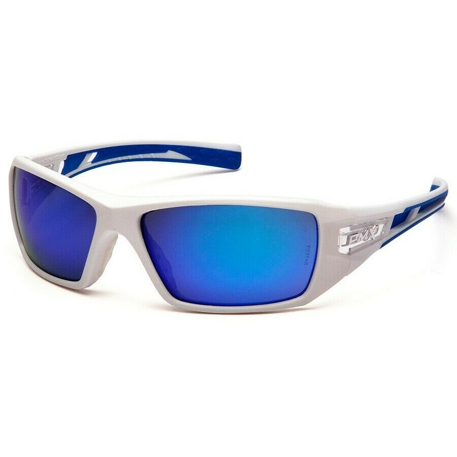 Pyramex Velar Safety Glasses Sunglasses Work Eyewear Choose Lens Color ANSI Z87+ Ice Blue Mirror SWBL10465D