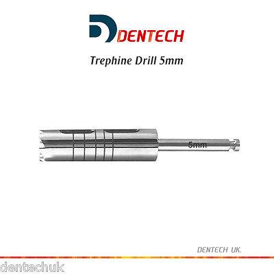 Trépano Taladro 5MM Irrigación Dental Utensilio Implante Quirúrgico Lab Tool