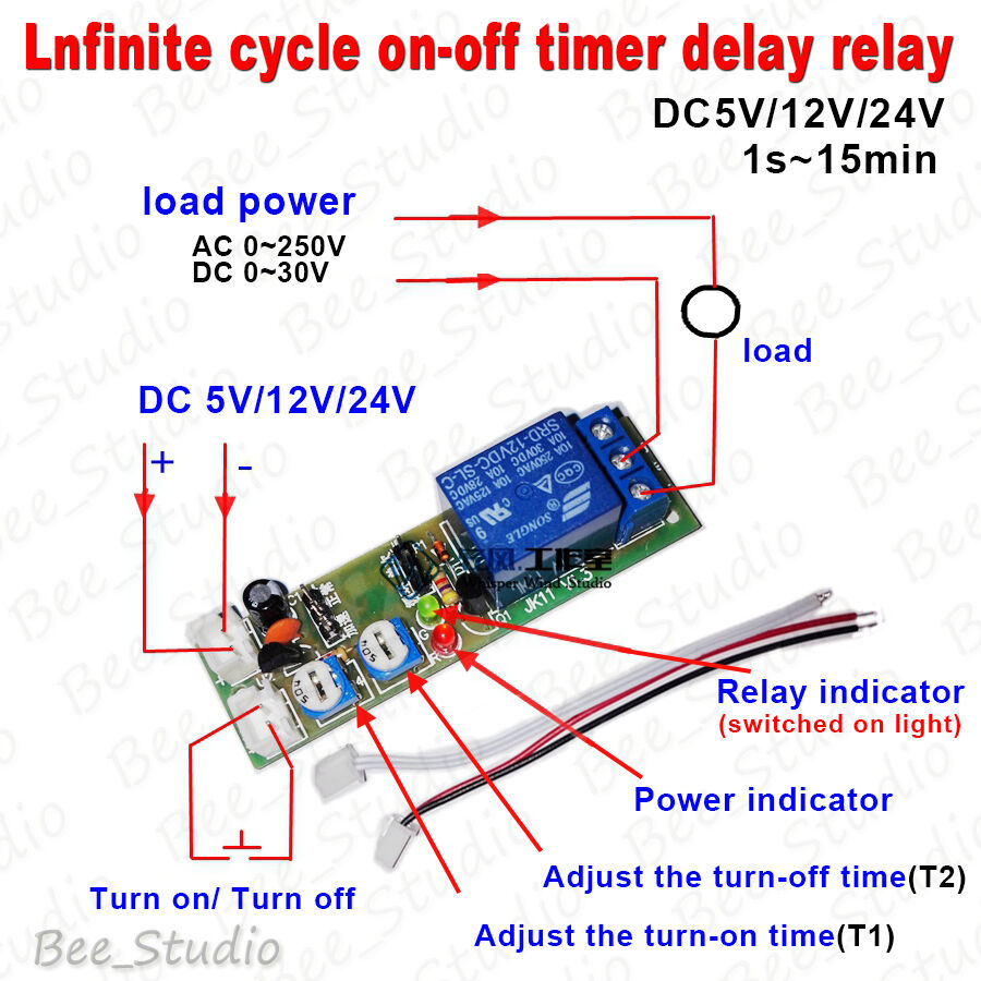 24v timer ebay dc 5v 12v 24v infinite cycle delay timing timer relay switch on off loop module sciox Gallery