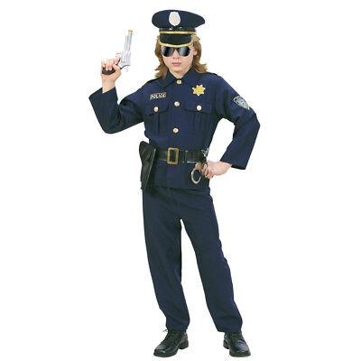 KINDER POLIZISTEN KOSTÜM # Karneval Polizei Officer Wachmann Jungen 134/140 7316
