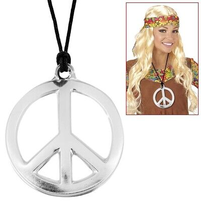 N KETTE 60er 70er Jahre Hippie Halskette Kostüm Party Schmuck (60er Peace-zeichen)