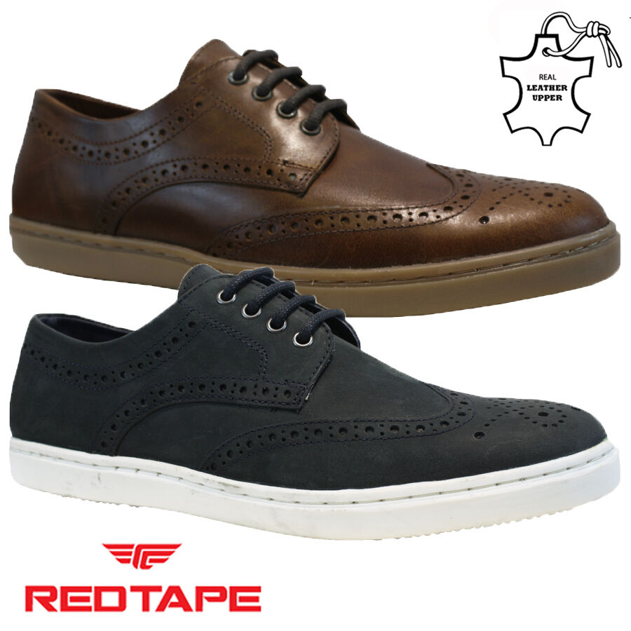 Details about MENS RED TAPE LEATHER LACE UP DRIVING SMART CASUAL BROGUES TRAINERS SHOES SIZE