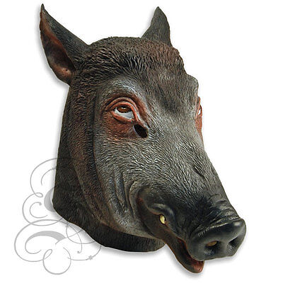 Woodland Animal Costumes (Latex Overhead Animal Woodland Wild Boar Dress Up Carnival Prop Party)