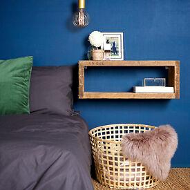Wall Mounted Reclaimed Bedside Shelf