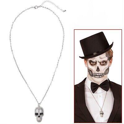 TOTENKOPF HALSKETTE Halloween Kette Skull Sensenmann Biker Kostüm - Skull Biker Kostüme