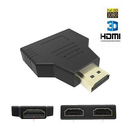 Neu 1080p 1 In 2 Out HDMI Splitter Switch Verteiler Adapter Full HD 3D HDTV PC Hdtv Splitter