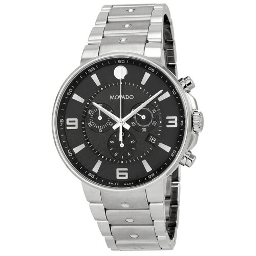 $1084.99 - Movado SE Pilot Black Dial Stainless Steel Chronograph Mens Watch 0606759