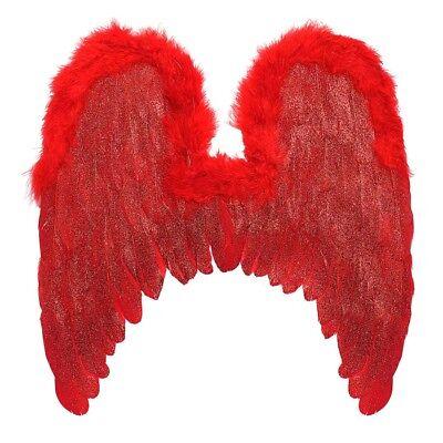 ROTE TEUFELSFLÜGEL # Halloween Teufel Satan Engel Damen Kostüm Party Deko (Rote Teufel Flügel)