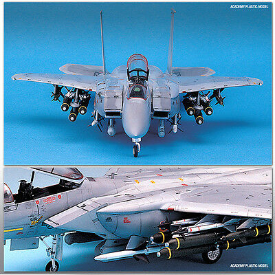 Academy 1/48 F-15E STRIKE EAGLE With Weapon Plastic Model Kit Airplanes #12264