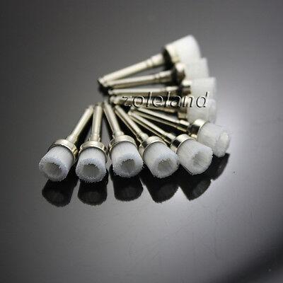 100 Pcs New Dental Nylon Latch Flat Polishing Polisher Prophy Bowl Brush