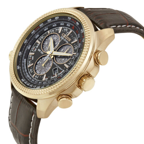 Citizen Perpetual Calendar Chronograph Brown Dial Mens Watch BL5403-03X