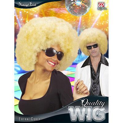 Karneval Fasching Hippie Afro Look Perücke Kostüm Party 06821 (Blonde Afro-perücke Kostüm)