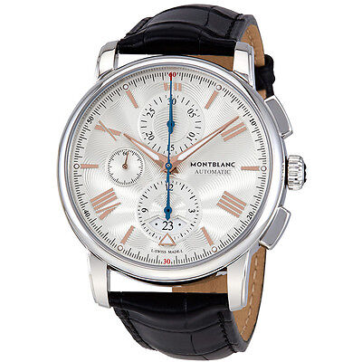 MontBlanc 4810 Automatic Silver White Dial Mens Watch 114855