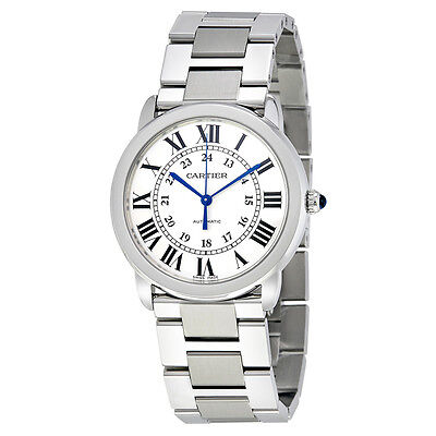 Cartier Ronde Solo Silver Opaline Ladies Watch WSRN0012