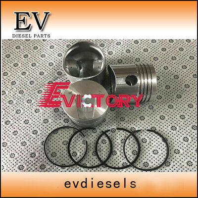Mitsubishi K3D OVERHAUL REBUILD KIT piston+ring gasket kit main con rod bearing