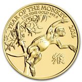 2016 1 oz Gold Great Britain Royal Mint Year of the Monkey BU - SKU #93741