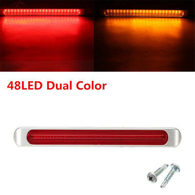Autos Dual Color 48LED Stop Turn Tail Brake Marker Clearance Lamp Flowing Light