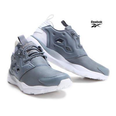 Reebok Furylite Clean Running Shoes Sneakers BD1436 Gray White US Women