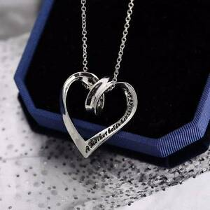 Heart necklace - A mother holds her child's hand - NEW Gateshead Lake Macquarie Area Preview