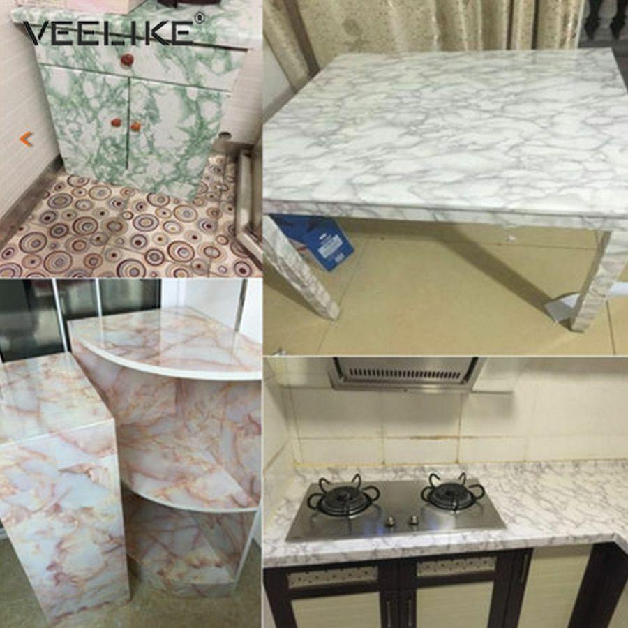 self adhesive marble wallpaper stick kitchen countertop