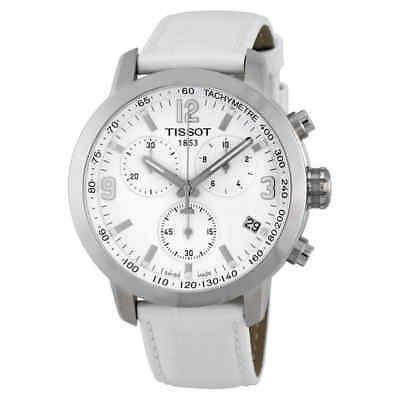 Tissot PRC 200 Chronograph White Dial Steel Watch T055.417.16.017.00