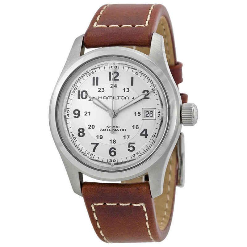 Hamilton Khaki Field Automatic Silver Dial Men Watch H70455553