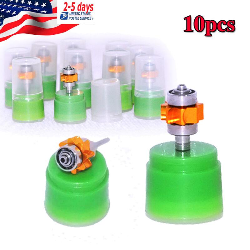 10pcs Dental Handpiece Cartridge Replacement Ceramic Rotor Standard Push Quiet