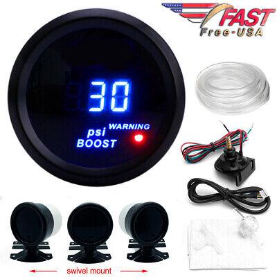 Digital Boost Gauge 52mm 0-30 PSI Turbo Pressure Meter 2