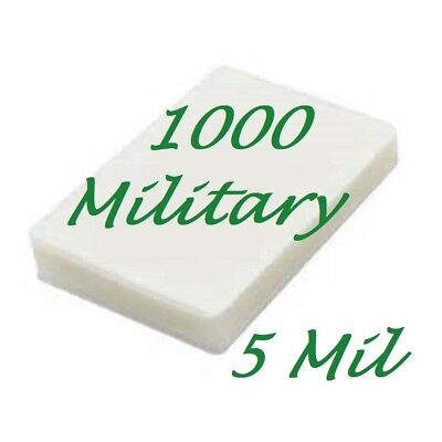 1000 Military Card Laminating Pouches Sheets 2-58 X 3-78 5 Mil Scotch Quality