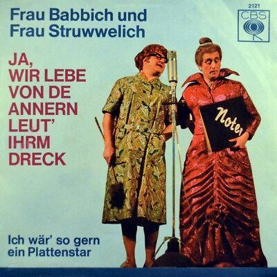 """7"""" FRAU BABBICH UND STRUWWELICH Ja wir lebe.. CBS Mainz Karneval 1965 NEUWERTIG!"""