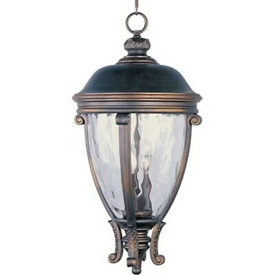 - Maxim Camden VX 3-Light Outdoor Hanging Lantern Golden Bronze - 41429WGGO