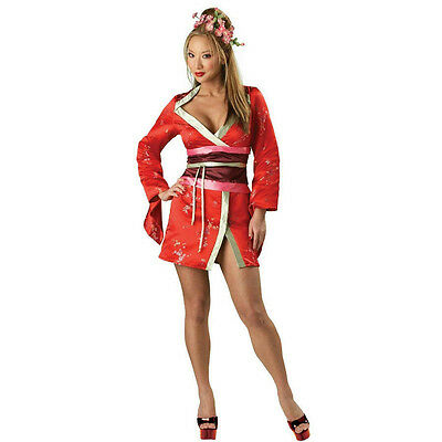 Asian Women Costume (Incharacter Women's Asian Spice Sexy Deluxe Adult Japanese Geisha Costume)