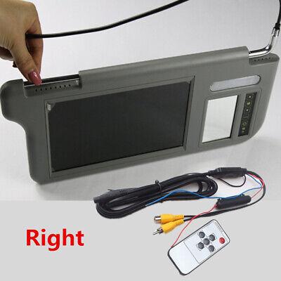 """7"""" Gray Car Sun Visor Mirror Screen LCD Monitor Right For AV1 AV2 Player Camera"""