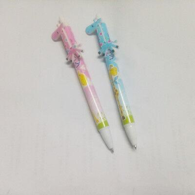 4Pcs Giraffe Ballpoint Pen Blue ink  Cartoon  Portable creative stationery AL537