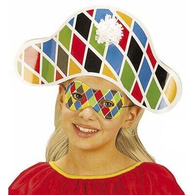 BUNTE KINDER MASKE HARLEKIN Karneval Fasching Clown Augenmaske Kostüm Party 6388