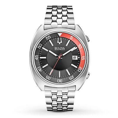 Bulova Accutron II Men's Snorkel UHF Quartz Rotating Bezel 43mm Watch 96B210  Accutron White Wrist Watch