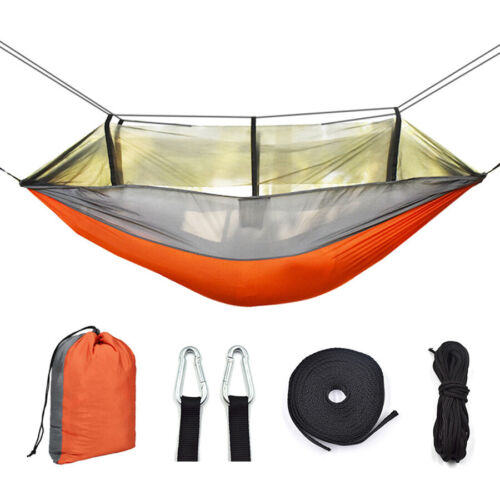 Double Size Outdoor Travel Camping Hanging Hammock Bed Mosqu