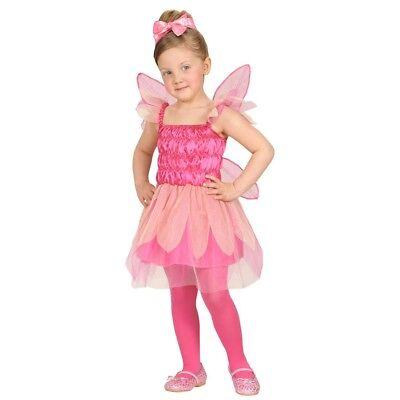 PINKES KINDER FEEN KOSTÜM Karneval Elfen Feenkostüm Mädchen Kleid & Flügel 4864