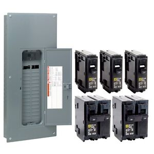Square D 200 Amp 30/40-Circuit Main Breaker Load Center-Homeline Panel w Breaker