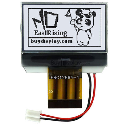 Graphic Lcd Module Display128x64 Serial Spi White On Black Wtutorialconnector
