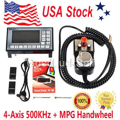 Cnc 4-axis Motion Controller 500khz Stepper Motor Driver Ddcsv1.1mpg Handwheel