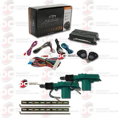 Avital 3100Lx Car Alarm With Keyless Entry Plus Pair Of 2 Wire Door Actuator