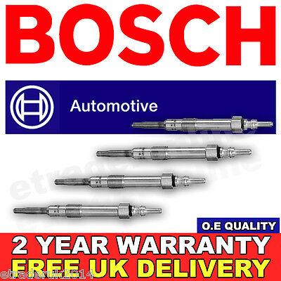 4X Vauxhall INSIGNIA 2.0 CDTi GLOW PLUGS SET 08  GENUINE BOSCH O.E MANUFACTURER