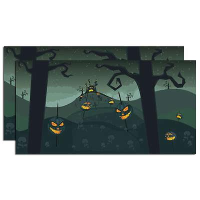 SVH Snow Village Halloween Spooky Backdrop Dept 56 D56 NEW 4025413 Set of 2](Spooky Halloween Background)
