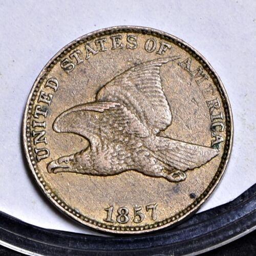 1857 Flying Eagle Cent - AU Details (#30275)