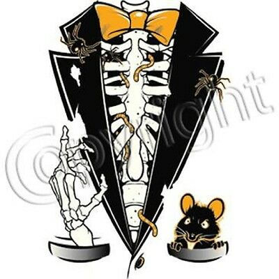 Halloween Skeleton Tuxedo T-Shirt All Sizes  (886)