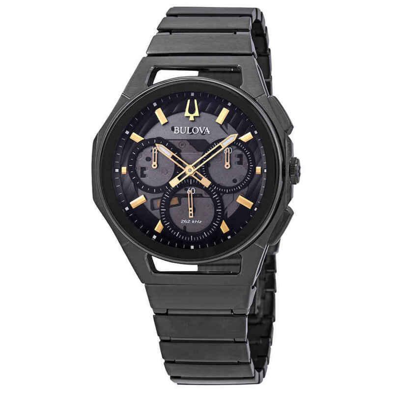Bulova-Curv-Chronograph-Dark-Grey-Dial-Men-Watch-98A206